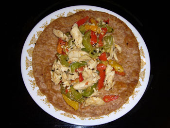 Chicken Fajita on Dish