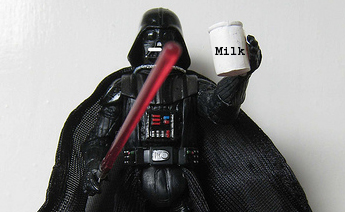 darth vader holds milk